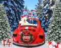 design vw kever retro kerst christmas volkwagen beetle huren etalage decor kerstmarkt carecaverhuur